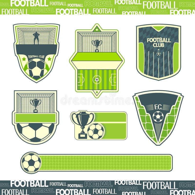 Simbolismo del fútbol stock de ilustración