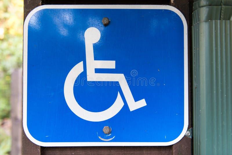 Simbolo andicappato fotografie stock