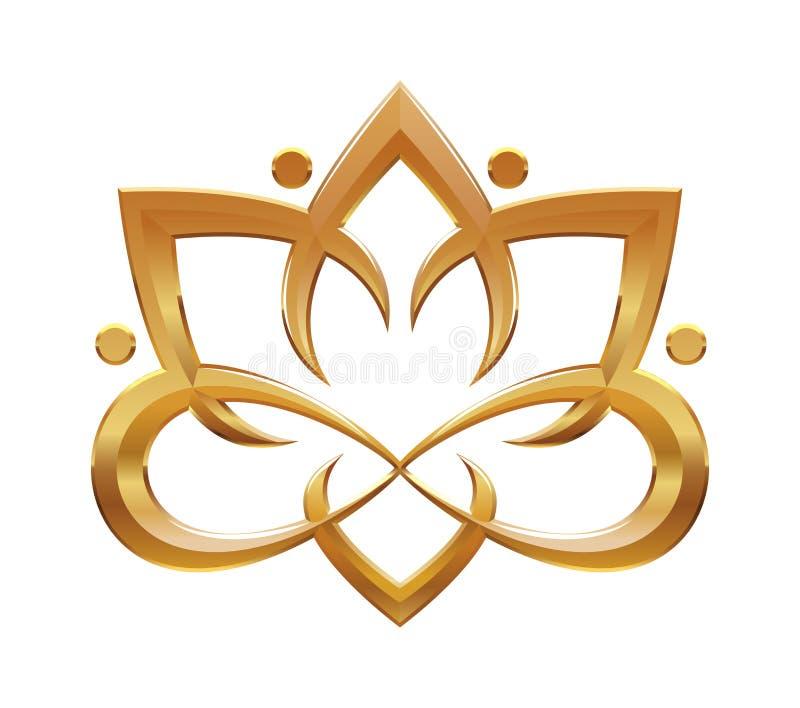 Simbolo astratto del fiore di Lotus royalty illustrazione gratis