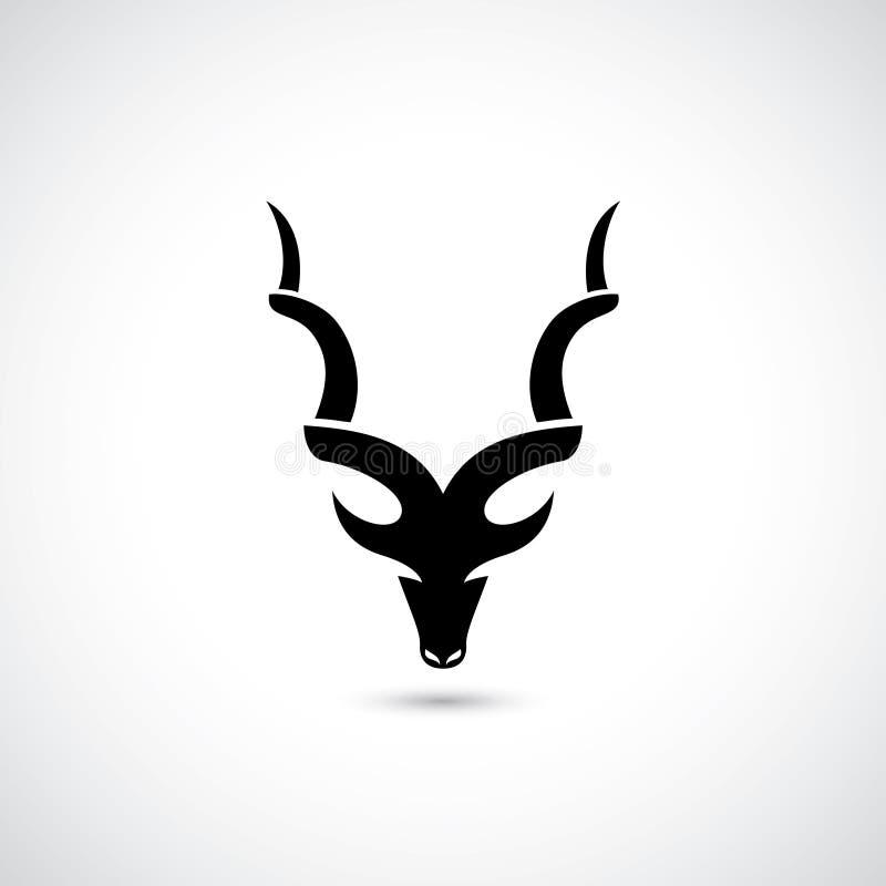 Simbolo astratto dell'antilope - illustrazione royalty illustrazione gratis