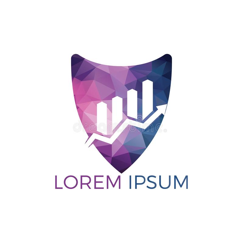 Simbolo astratto di logo di affari Concetto creativo di simbolo di crescita illustrazione di stock
