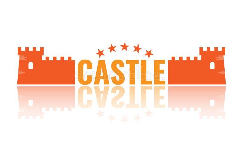 Simbolo autentico della torre del castello per progettazione dell'icona o di logo Illustrazione di vettore royalty illustrazione gratis