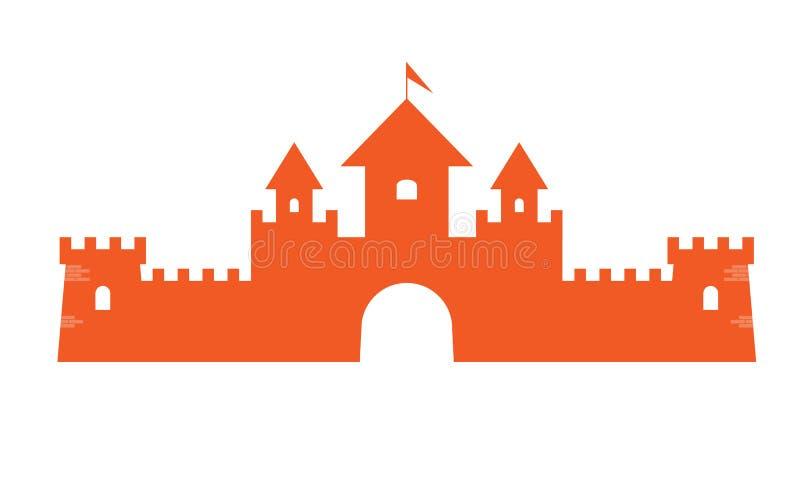 Simbolo autentico della torre del castello per progettazione dell'icona o di logo Illustrazione di vettore illustrazione di stock