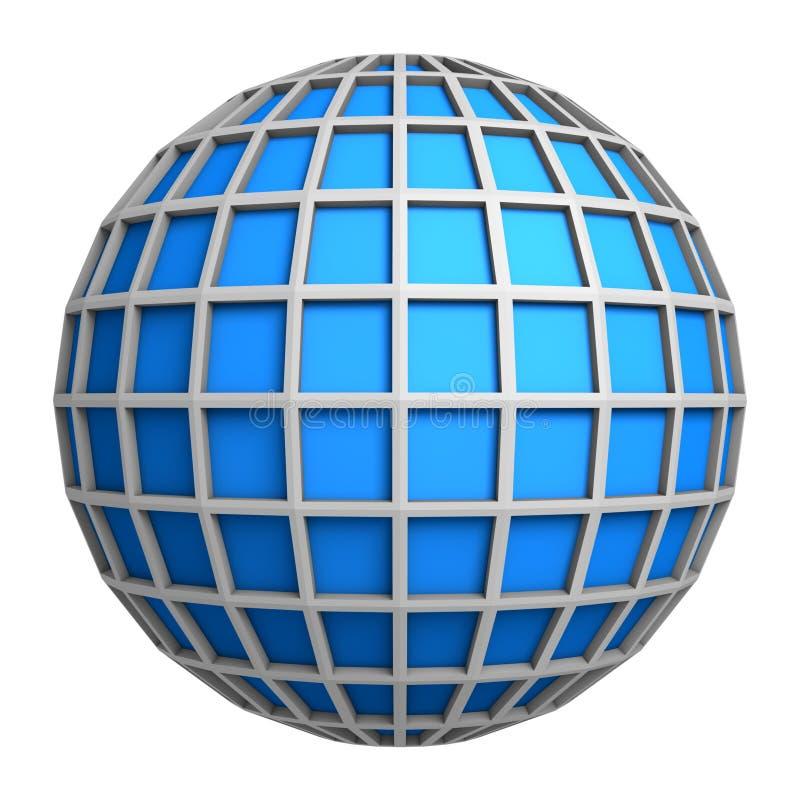 Simbolo blu del globo illustrazione di stock