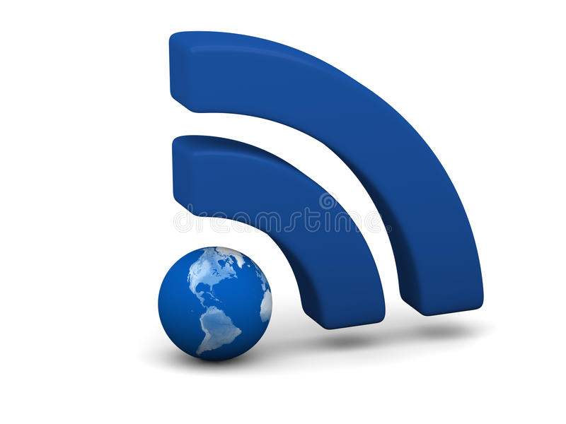 Simbolo blu di WiFi royalty illustrazione gratis