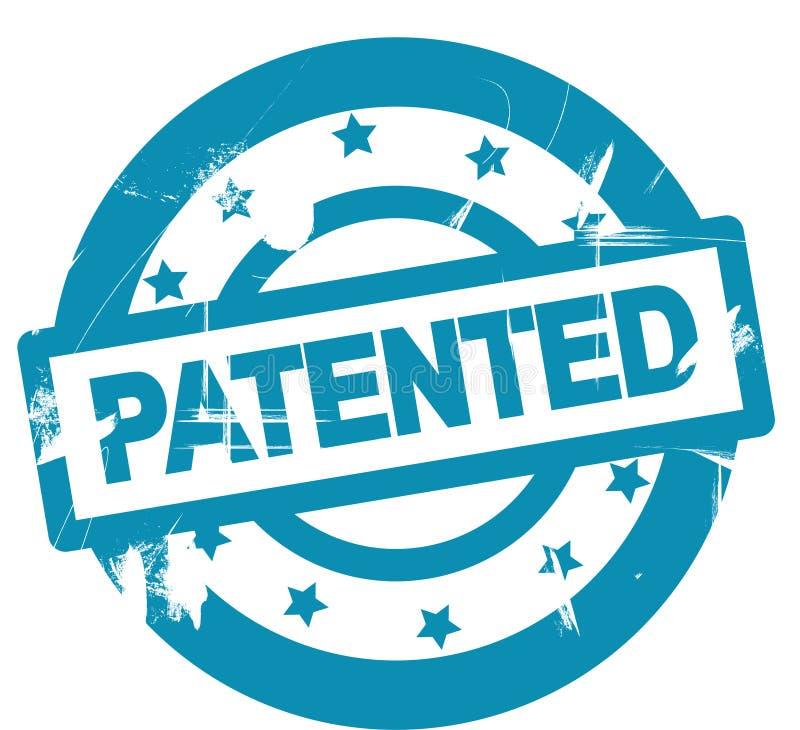 Simbolo brevettato rotondo del bollo illustrazione vettoriale