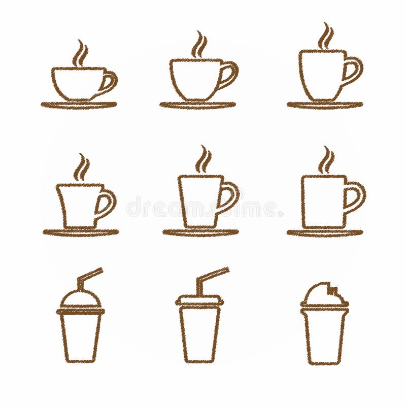 Simbolo caldo del caffè e del tè della tazza fotografia stock