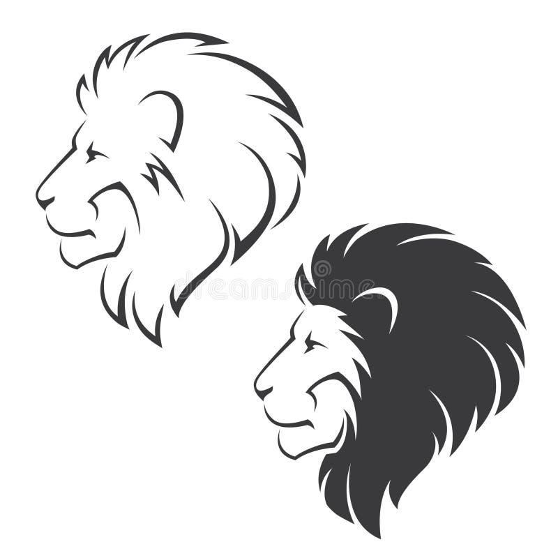 Simbolo capo del leone illustrazione vettoriale