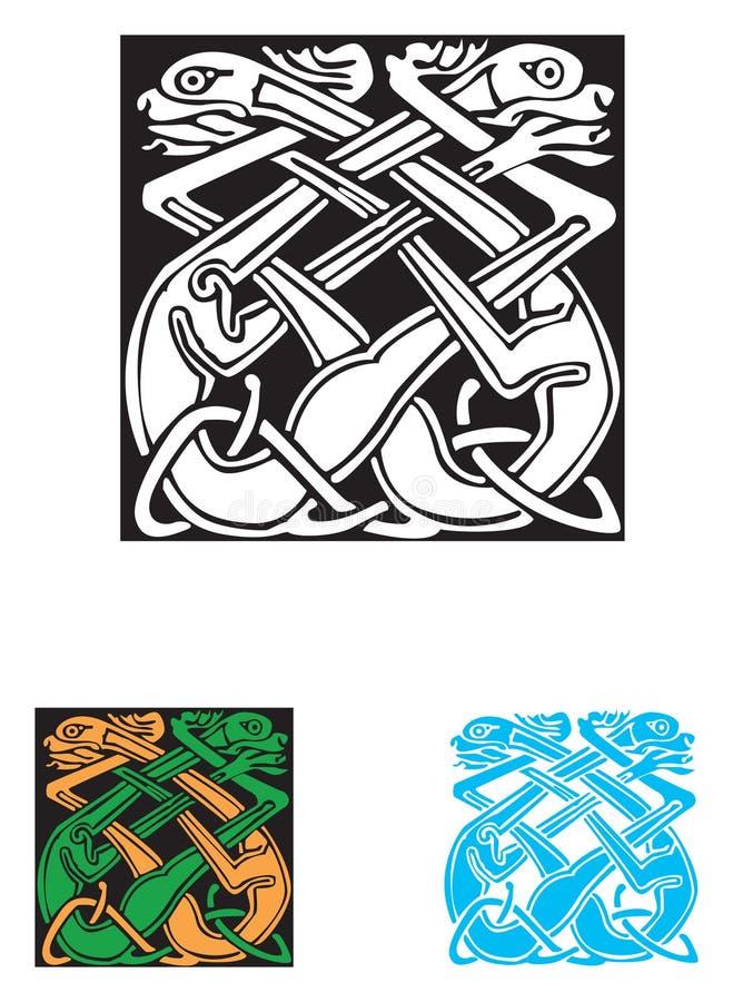 Simbolo celtico - tatuaggio o illustrazione illustrazione di stock