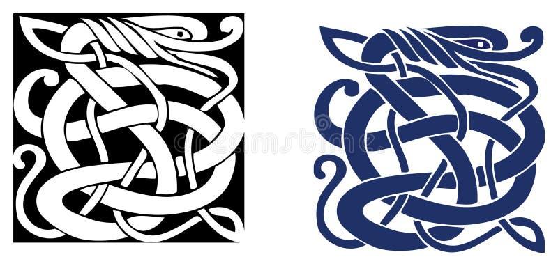 Simbolo celtico - tatuaggio o illustrazione illustrazione vettoriale