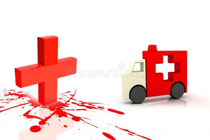 Simbolo clinico dell'ambulanza e del segno illustrazione di stock