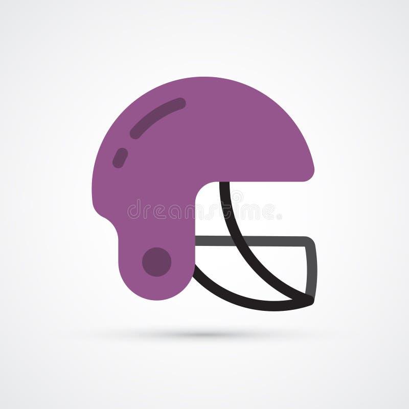 Simbolo colorato del casco di calcio Illustrazione di vettore illustrazione di stock
