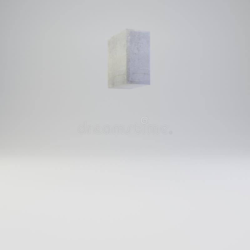 Simbolo concreto di citazioni con struttura del gesso isolata su fondo bianco illustrazione vettoriale