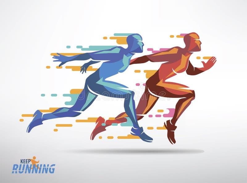 Simbolo corrente di vettore degli atleti illustrazione di stock