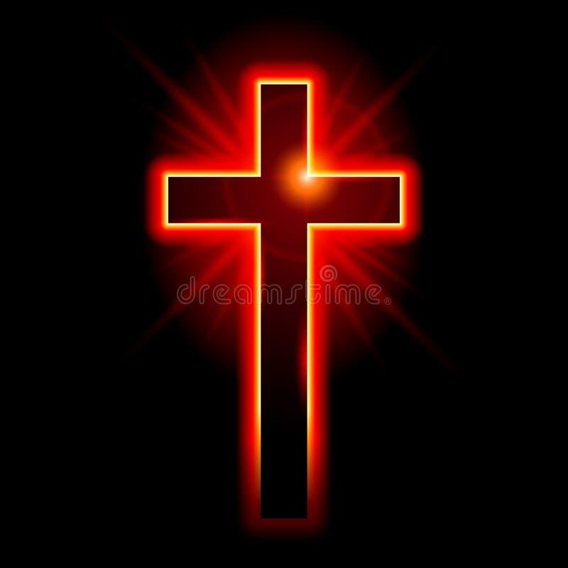 Simbolo cristiano della croce illustrazione vettoriale