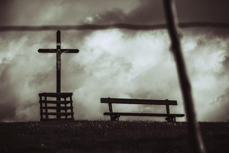 Simbolo cristiano trasversale fotografia stock libera da diritti