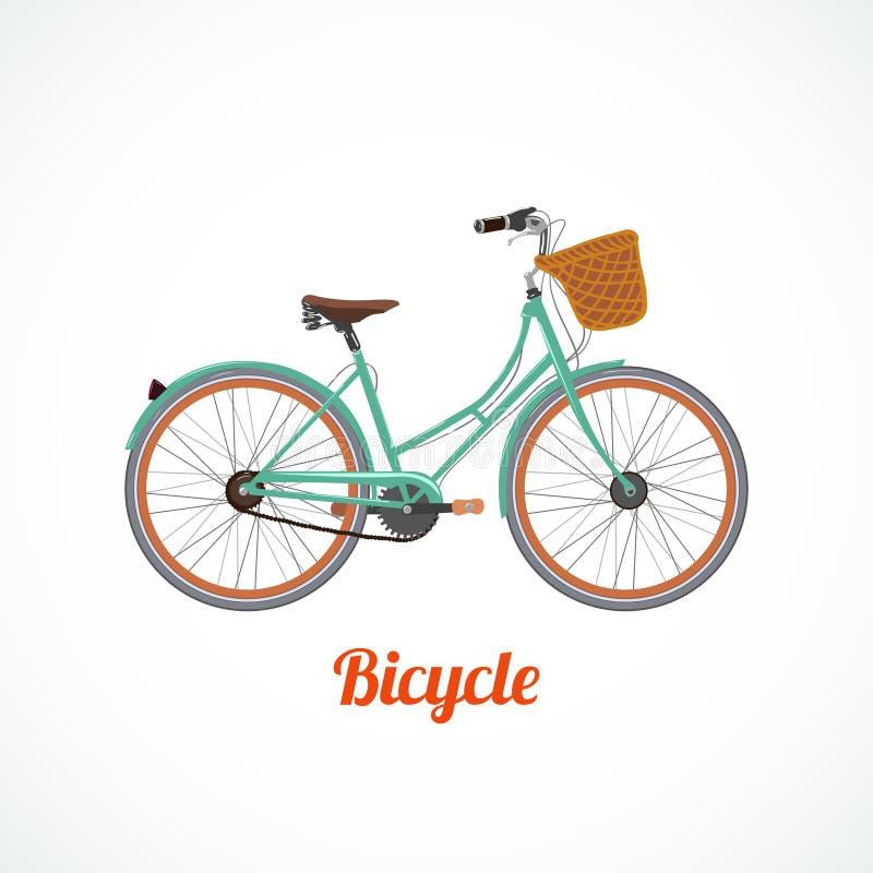 Simbolo d'annata della bicicletta illustrazione di stock