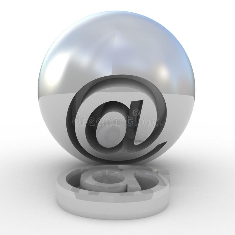 Simbolo 3D Del Email Fotografie Stock Libere da Diritti