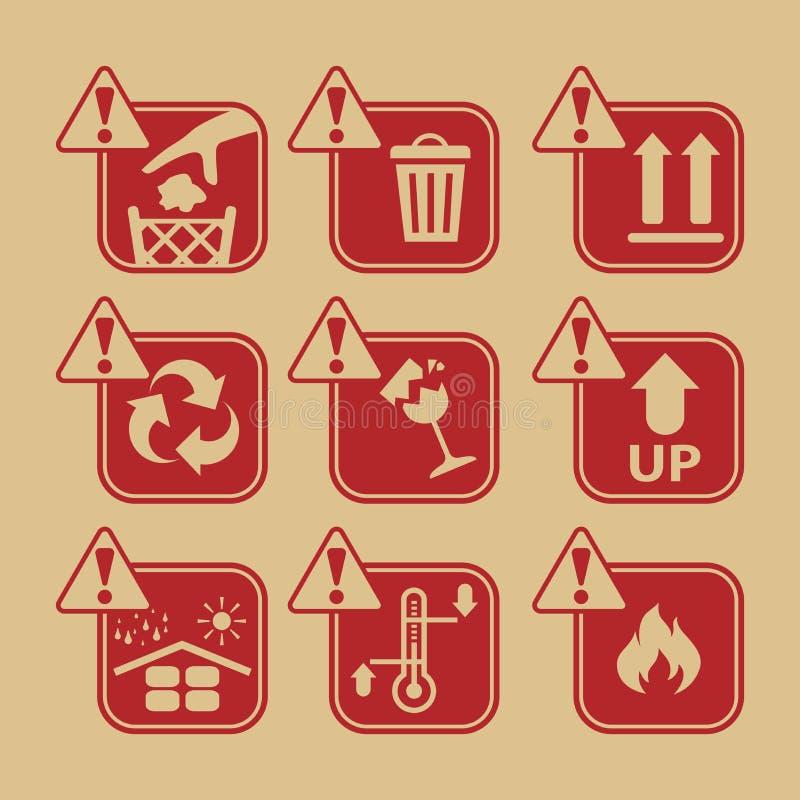 Simbolo d'imballaggio, icona illustrazione vettoriale