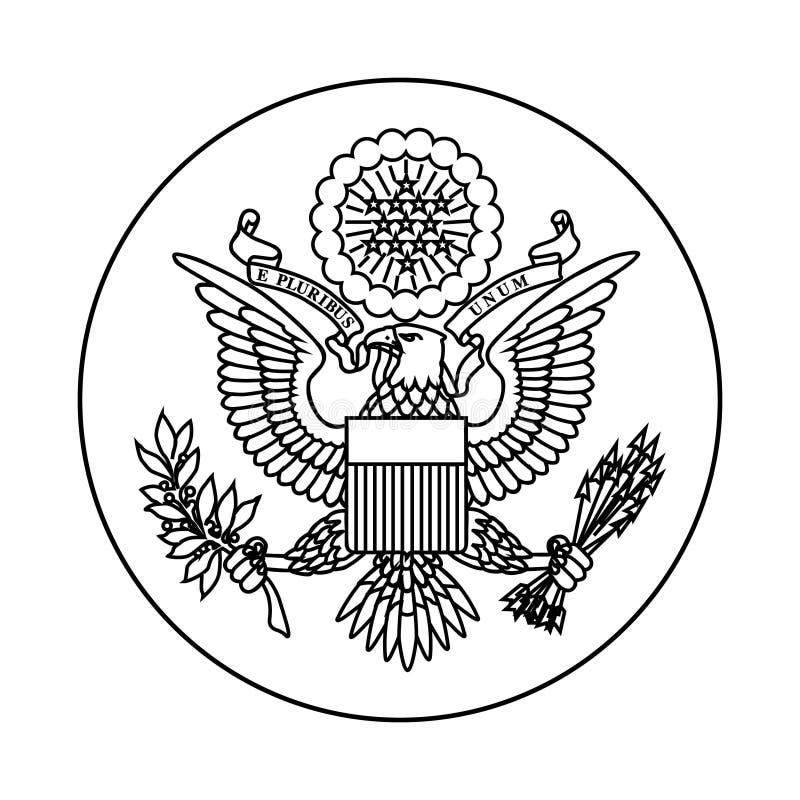 Simbolo degli Stati Uniti illustrazione vettoriale