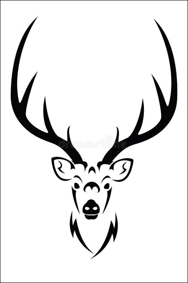 Simbolo dei cervi illustrazione vettoriale