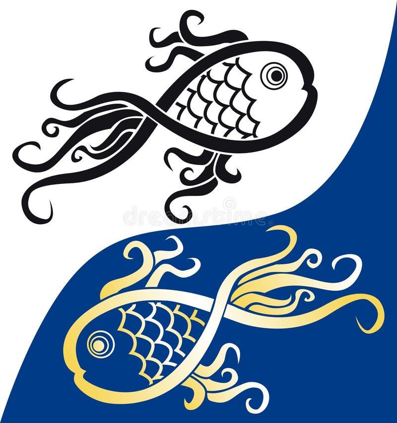 Simbolo dei pesci illustrazione di stock