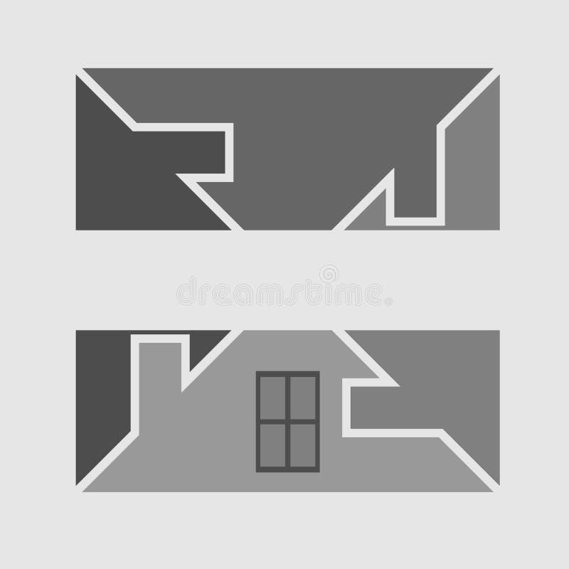 Simbolo del bene immobile illustrazione di stock