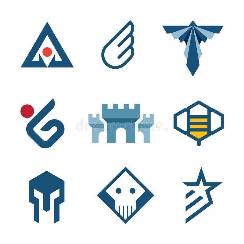 Simbolo del castello di logo di stile di storia di medio evo dell'icona di forza illustrazione vettoriale