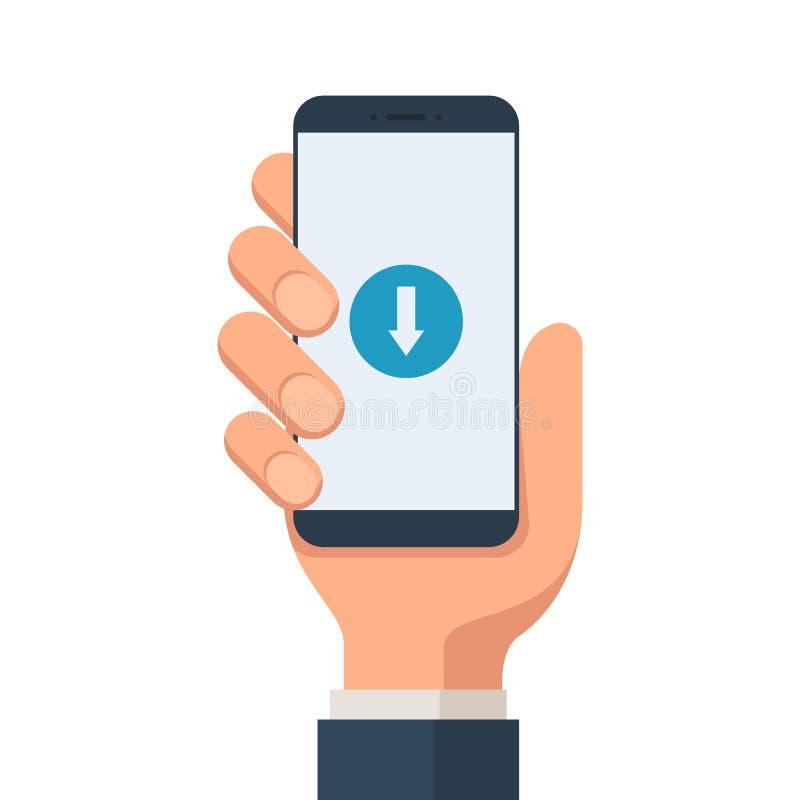 Simbolo del cellulare di download illustrazione vettoriale