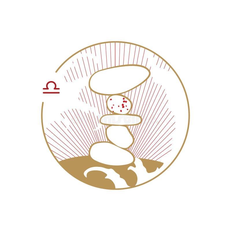 Simbolo del cerchio dello zodiaco aquarius royalty illustrazione gratis