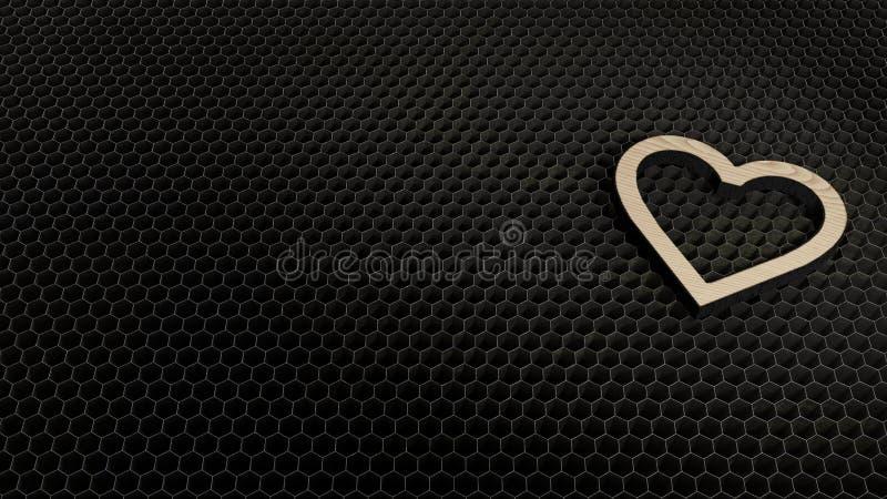 simbolo del compensato del taglio del laser del favorito illustrazione vettoriale