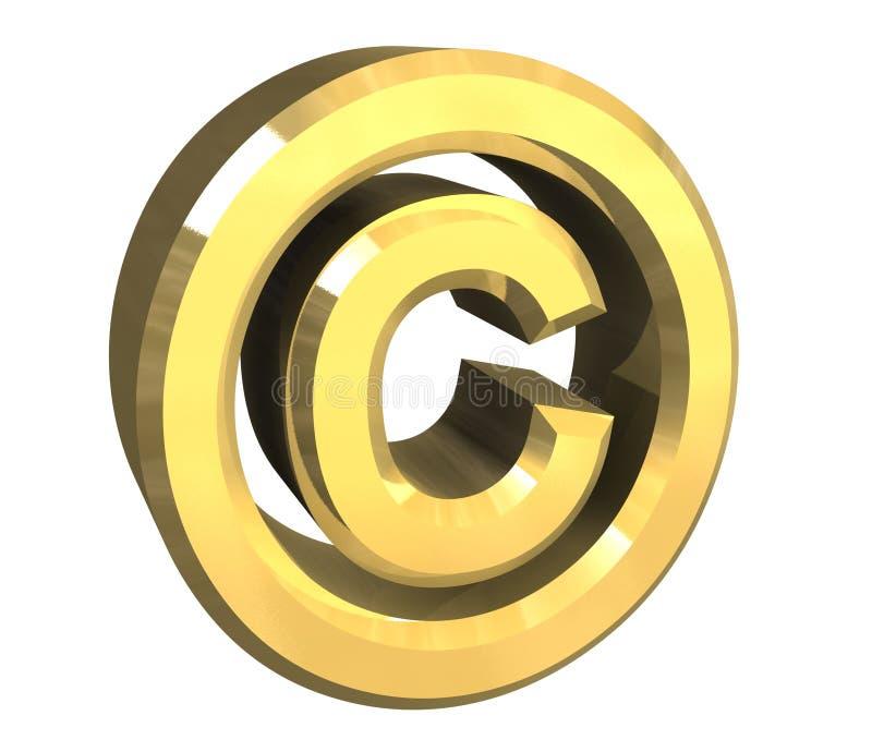 Download Simbolo Del Copyright In Oro (3d) Illustrazione di Stock - Illustrazione di isolato, legge: 3875348