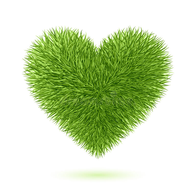 Simbolo del cuore dell'erba illustrazione vettoriale