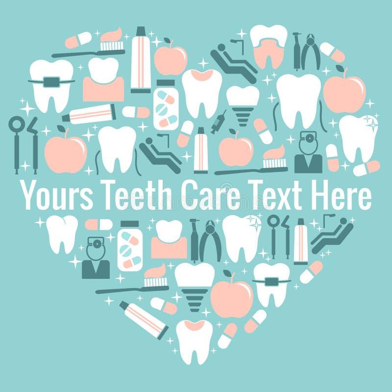 Simbolo del cuore di cure odontoiatriche royalty illustrazione gratis