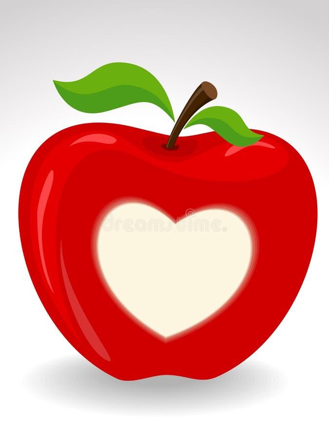Simbolo del cuore su priorità bassa isolata. royalty illustrazione gratis