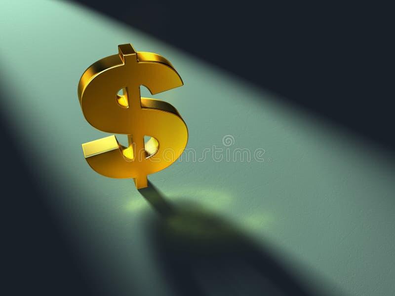 Simbolo del dollaro illustrazione vettoriale