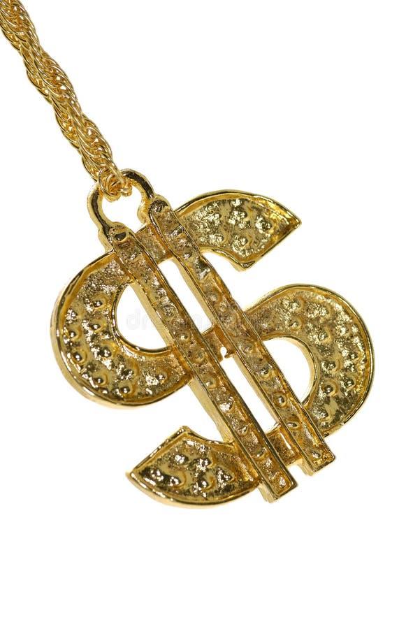 Simbolo del dollaro dell'oro immagine stock