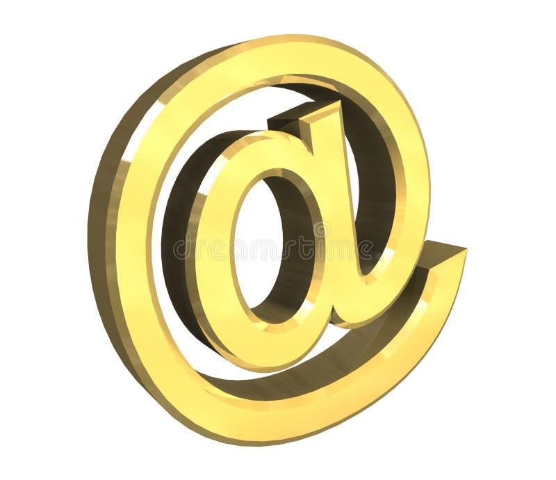 Download Simbolo Del Email In Oro (3d) Illustrazione di Stock - Illustrazione di riga, messaggio: 3875320