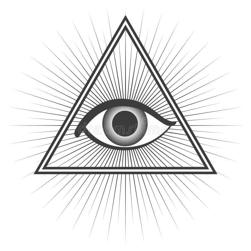 simbolo del freemason illustrazione di stock