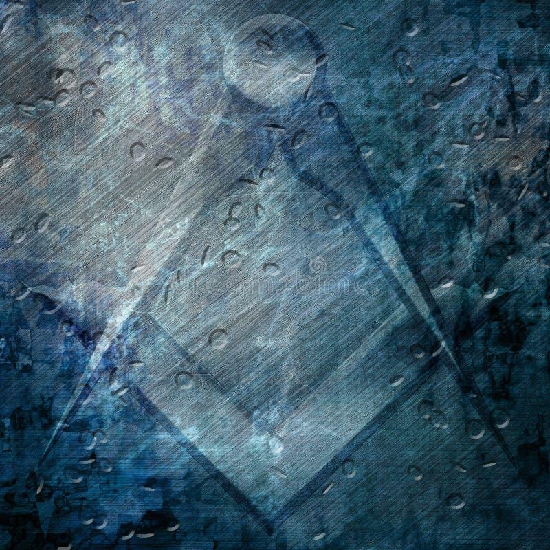 Simbolo del freemason di lerciume illustrazione vettoriale