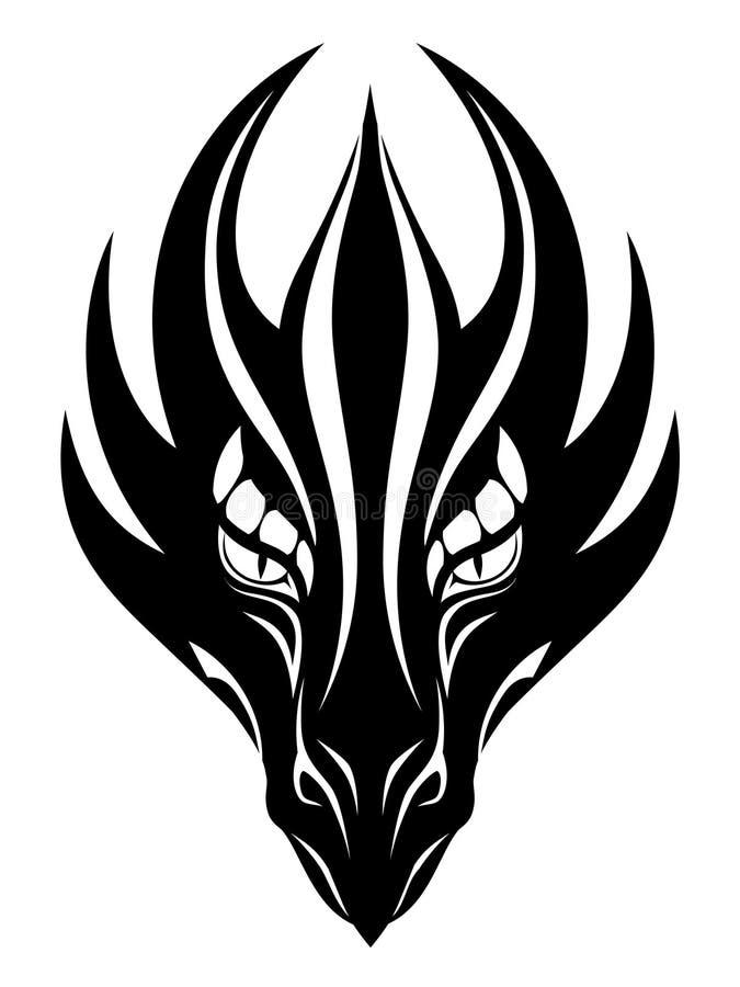Simbolo del fronte del drago illustrazione di stock