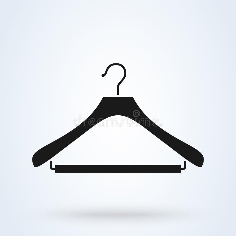 Simbolo del gancio, della lavanderia o del guardaroba Illustrazione piana di vettore di stile royalty illustrazione gratis