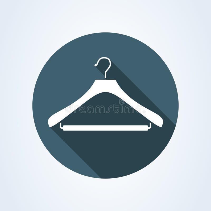 Simbolo del gancio, della lavanderia o del guardaroba Illustrazione piana di vettore di stile illustrazione di stock