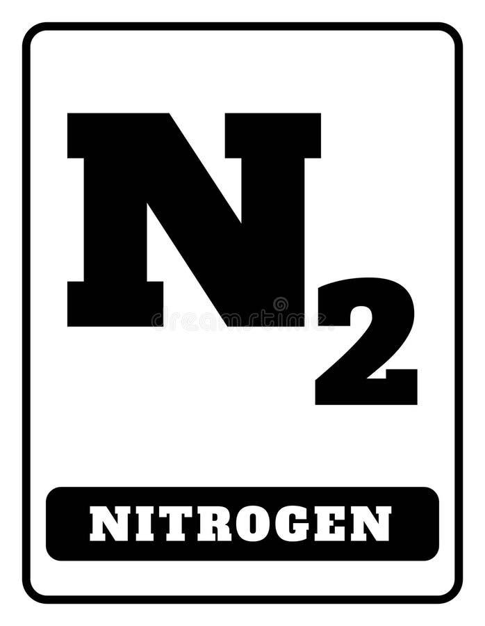 Simbolo del gas dell'azoto illustrazione di stock