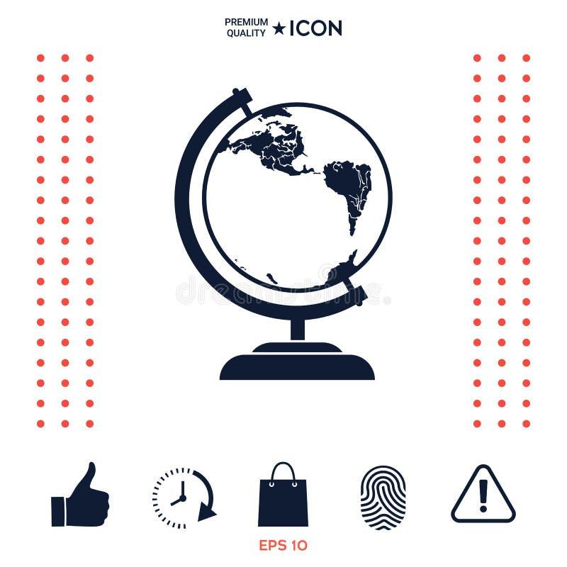 Download Simbolo del globo - icona illustrazione vettoriale. Illustrazione di universalmente - 117975177