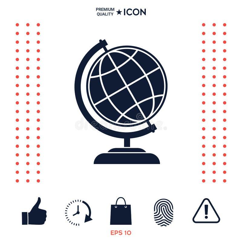 Download Simbolo Del Globo - Icona Della Terra Illustrazione Vettoriale - Illustrazione di pianeta, commercio: 117975176