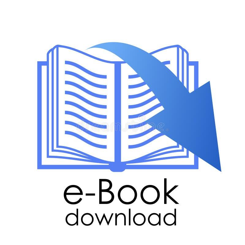Simbolo del libro elettronico illustrazione di stock