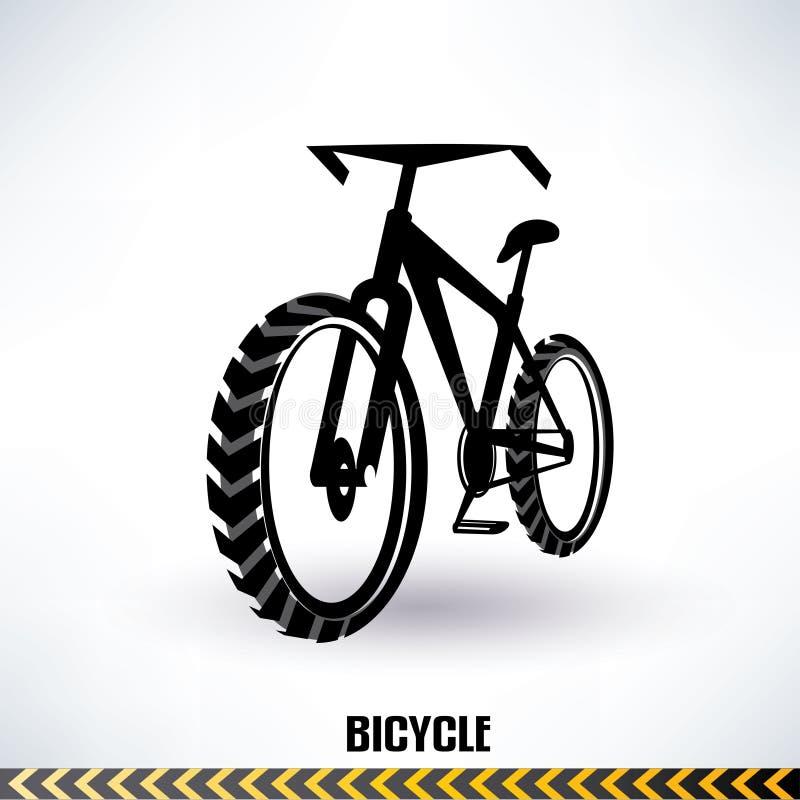 Simbolo del mountain bike illustrazione di stock