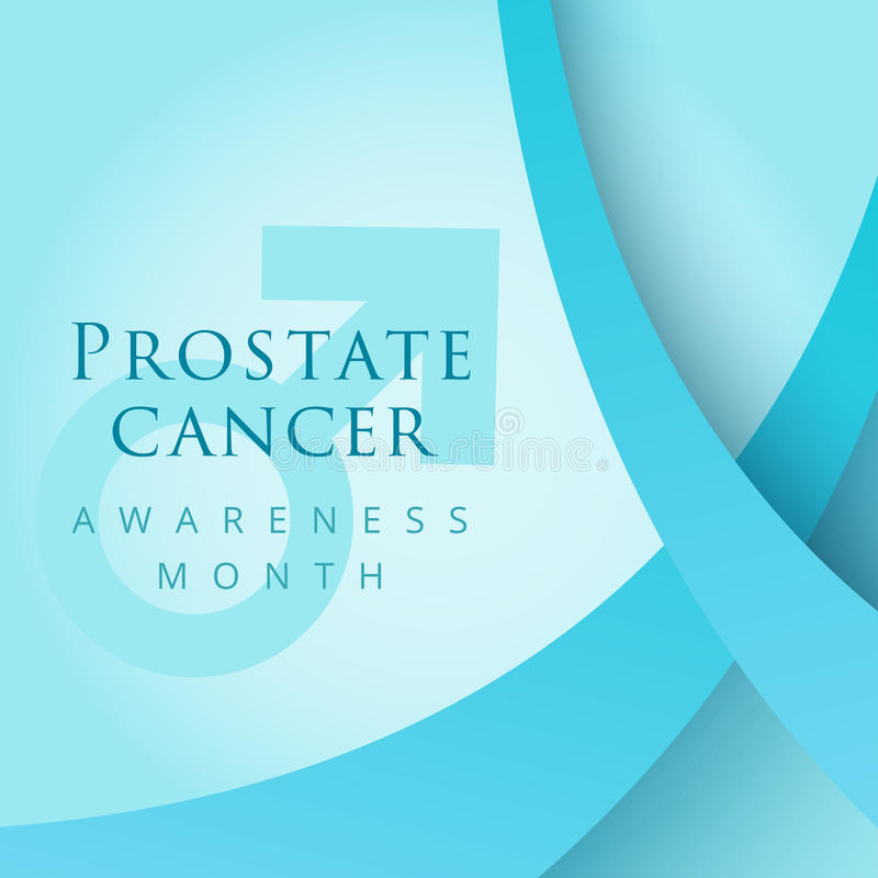 Simbolo del nastro blu per il mese di consapevolezza del carcinoma della prostata Vettore b royalty illustrazione gratis