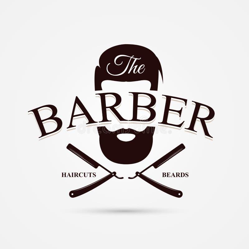 Simbolo del negozio di barbiere disegno moderno vettore for Simbolo barbiere
